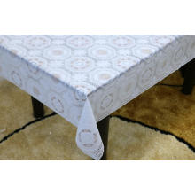 Printed pvc lace white tablecloth by roll